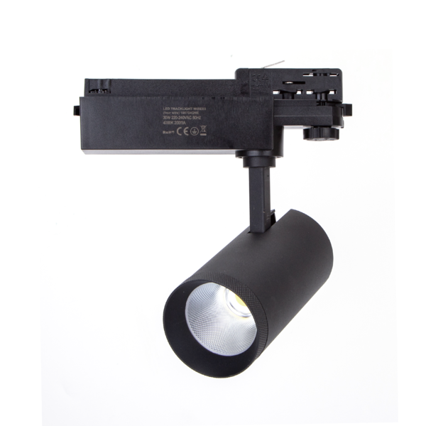 LED Track spot 3F Mat Zwart - 30W High Lumen - 4000K helder wit licht