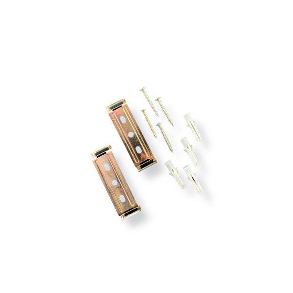 LED Batten montagemateriaal 2 klemmen incl. schroeven en pluggen