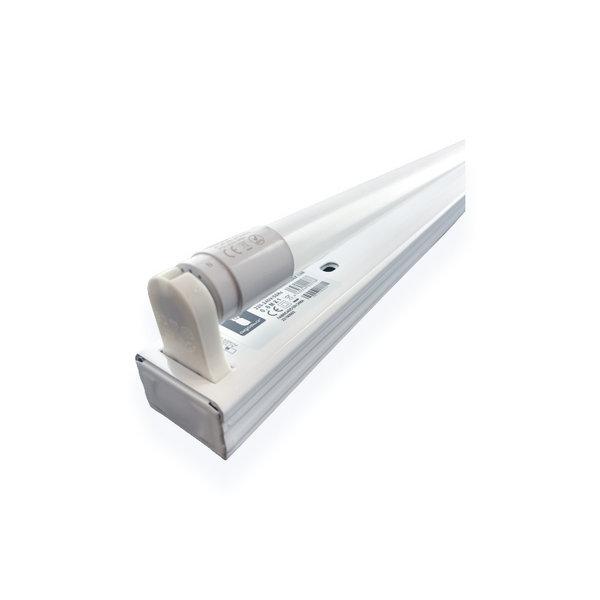 1.2m 18W LED TL armatuur + 1 LED TL buis 3000K 830 Warm Wit compleet