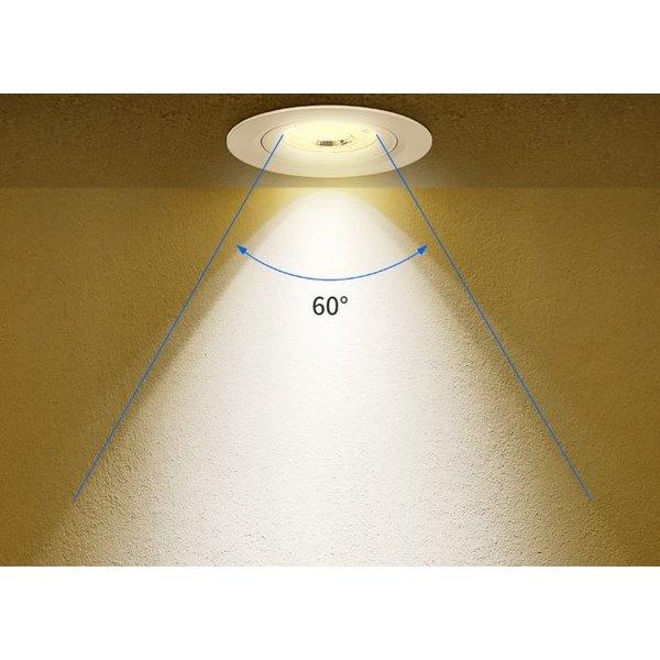 LED inbouwspot Dimbaar - 5W vervangt 35W - 3000K warm wit licht - Kantelbaar