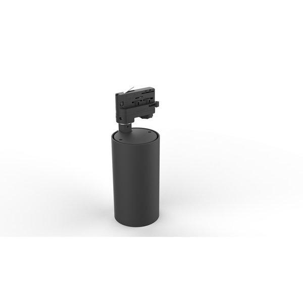 LCB LED Railspot Zwart Tracklight - Universeel 3-Phase - 15W 100lm p/w - 3000K warm wit licht
