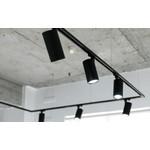 LCB LED Railspot Zwart Tracklight - Universeel 3-Phase - 45W 100lm p/w - 4000K helder wit licht
