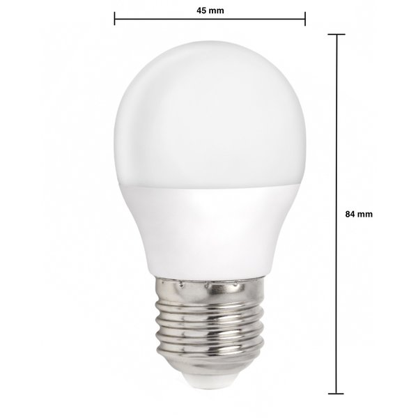 LED lamp - E27 fitting - 3W vervangt 25W - 4000k helder wit licht
