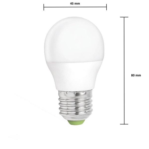 LED lamp dimbaar - E27 fitting - 6W vervangt 45W - Helder wit licht 4000K