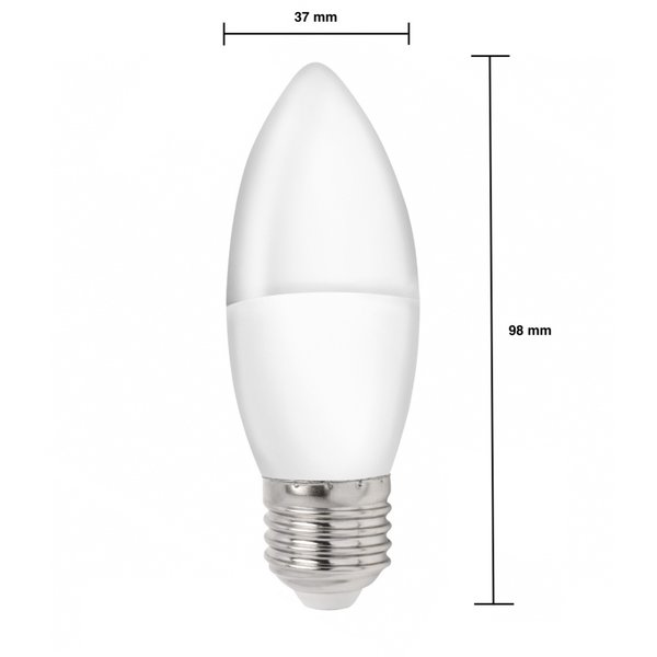 LED kaarslamp - E27 fitting - 1W vervangt 10W - 3000K Warm wit licht