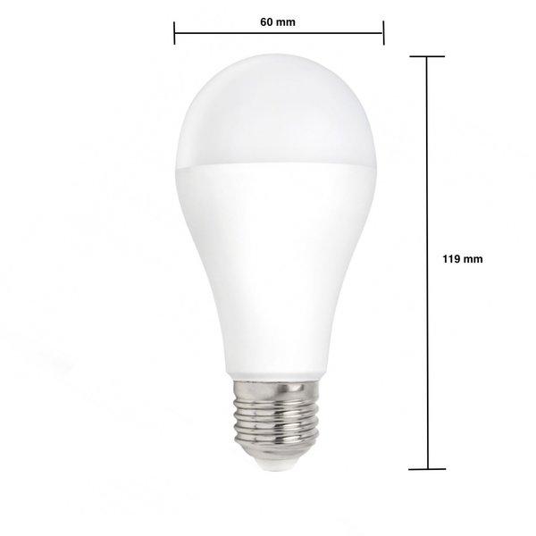 LED lamp - E27 fitting - 9W vervangt 72W - 4000k helder wit licht
