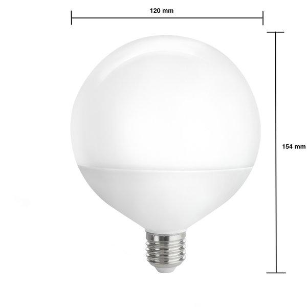 LED lamp - XL G120 E27 - 16W vervangt 150W -  3000K warm wit licht