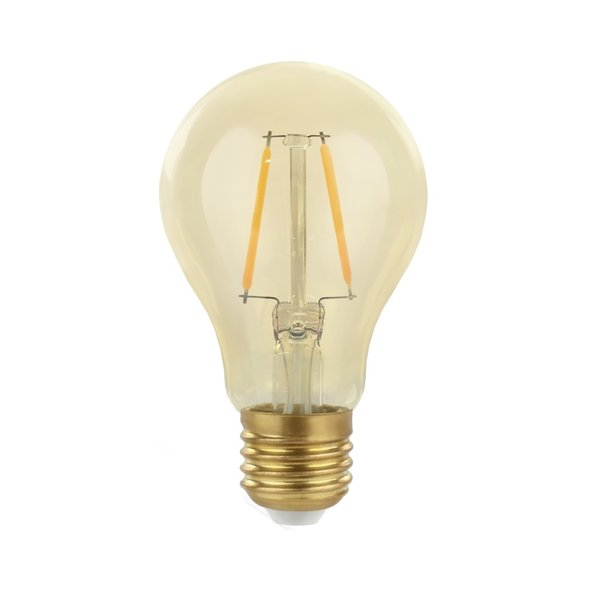 LED filament lamp - E27 fitting A60 - 2W vervangt 25W - 2500K extra warm wit licht