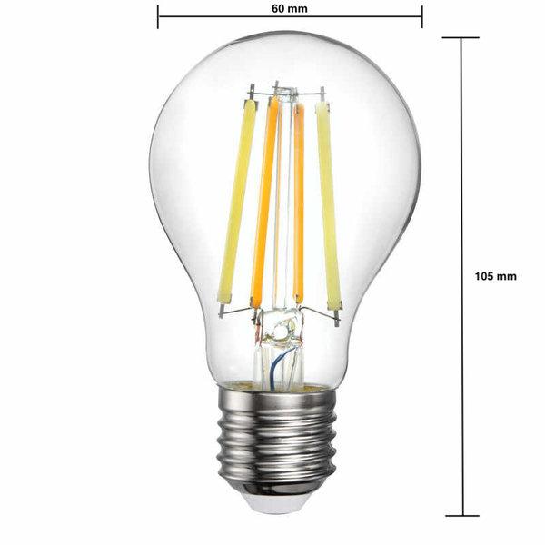 WiFi LED filament lamp - E27 5W 2700K - 6500K - Bediening met de App