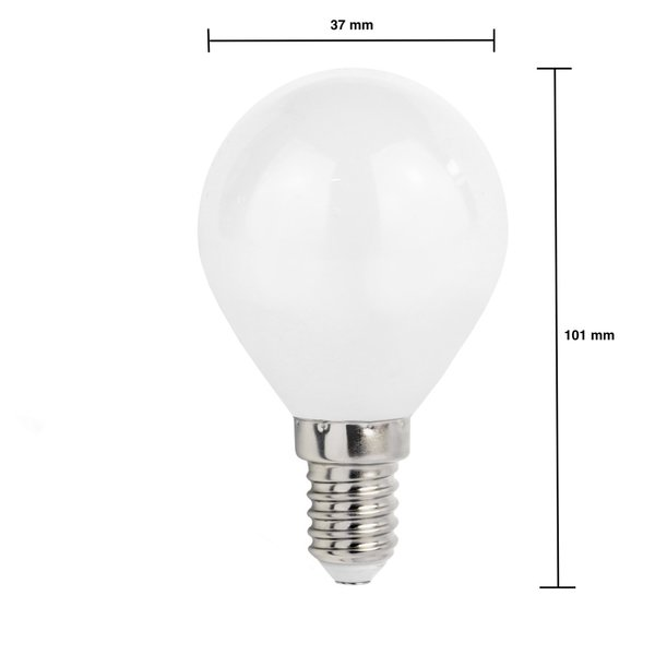 LED lamp - E14 fitting - 6W vervangt 50W - Helder wit licht 4000K