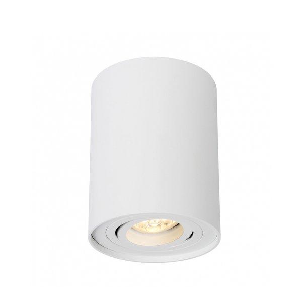 LED plafondspot - Tube rond - Wit - met GU10 fitting - kantelbaar - excl. LED spot