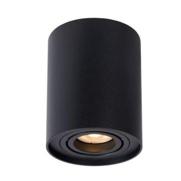 LED plafondspot - Tube rond - Zwart - met GU10 fitting - kantelbaar - excl. LED spot