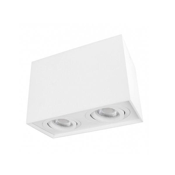 LED plafondspot dubbel kantelbaar - Cube Wit - GU10 fitting