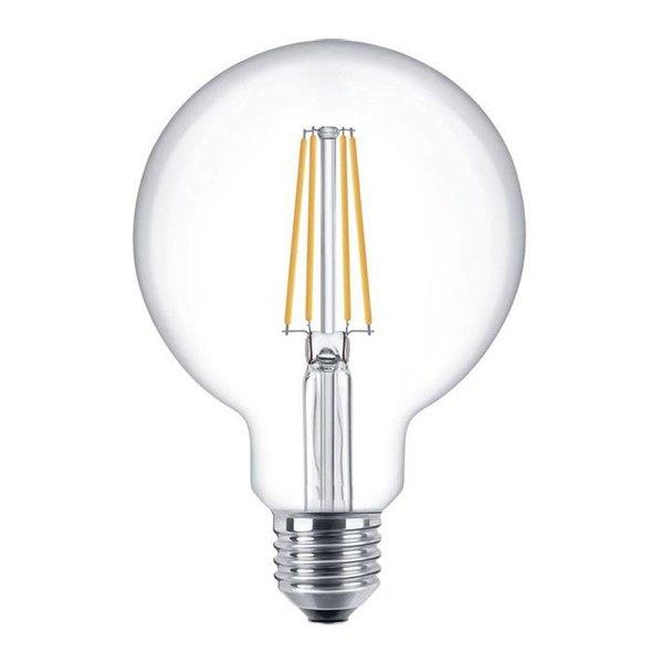 LED filament lamp - XL GLOBE - dimbaar - E27 fitting - 6W vervangt 60W - 2700K warm wit licht