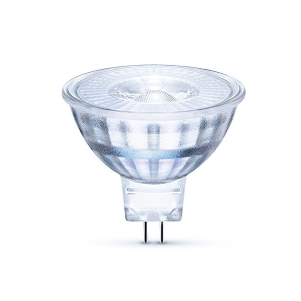 LED spot GU5.3 - MR16 LED - 3W vervangt 25W - 6500K daglicht wit - Glazen behuizing