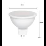 LED spot GU5.3 - MR16 LED - 6W vervangt 40W - 6400K daglicht wit