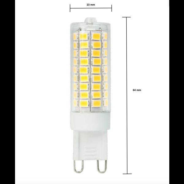 LED G9 - 12W vervangt 100W - 4000K helder wit licht - 23x64 mm