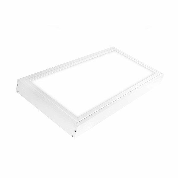 LED paneel opbouw - 60x30cm Framesysteem - Wit aluminium - 5cm hoog incl. schroeven