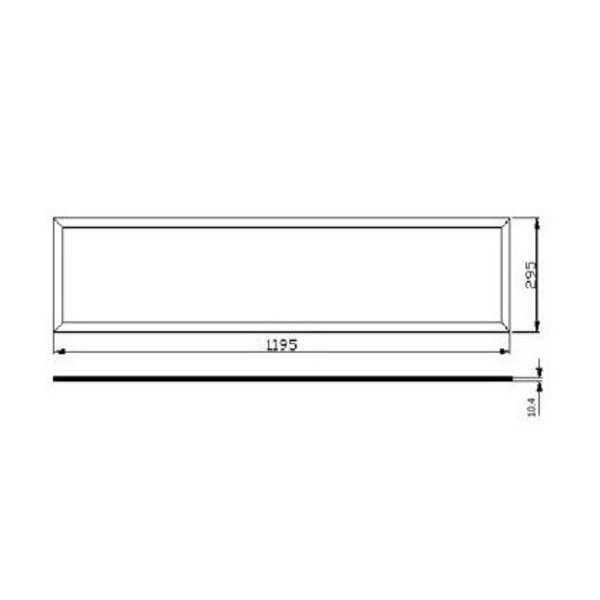 LED Paneel 120x30 - 3000K - 32W - 3800lm - Flikkervrij - 5 jaar garantie
