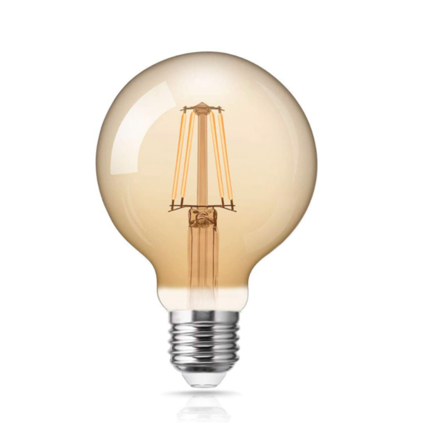 LED Filament lamp dimbaar - XL GLOBE - E27 fitting - 4W vervangt 40W - 2200K extra warm wit licht
