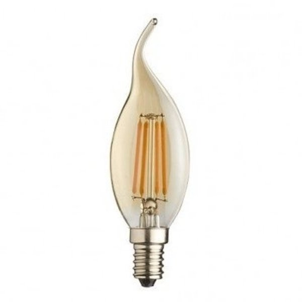 LED Filament lamp dimbaar - Flame F35 E14 - 5W vervangt 40W - Extra Warm Wit 2200K