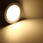 LED Witte plafondlamp rond- 12W vervangt 60W - 3000k warm wit licht - 255x55mm