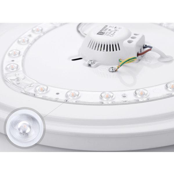 LED Witte plafondlamp rond- 12W vervangt 60W - Helder wit licht 4000K - 255x55mm