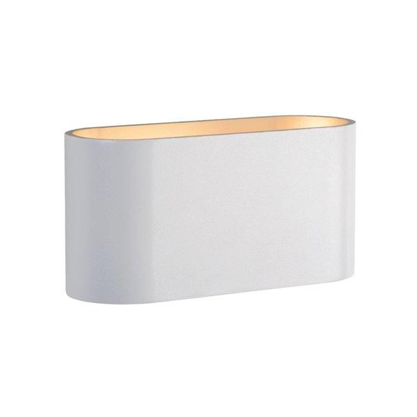 LED Wandlamp Ovaal - Wit Goud met G9 fitting - 80x80x160 mm