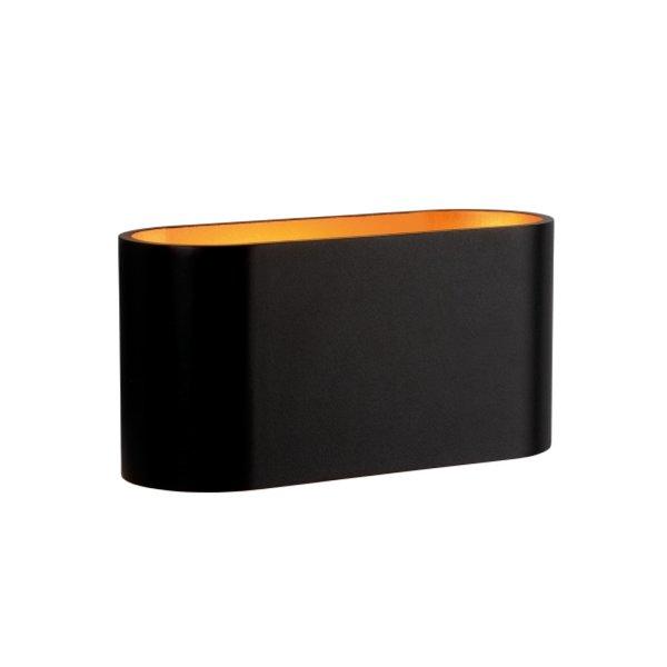 LED Wandlamp Ovaal - Zwart Goud met G9 fitting - 80x80x160 mm
