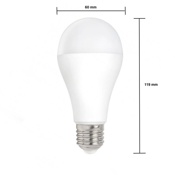 LED lamp dimbaar - E27 fitting - 12W vervangt 100W - Helder wit licht 4000K