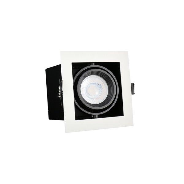 LED inbouwspot armatuur Modern - Vierkant met 1 GU10 aansluiting