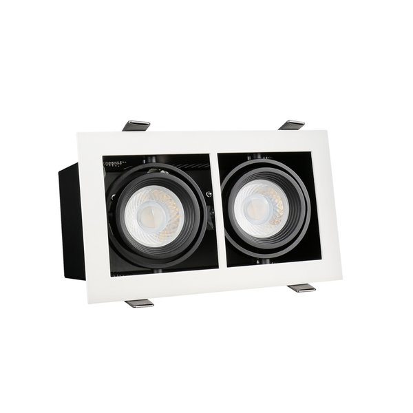 LED inbouwspot armatuur Modern - Rechthoekig met 2 GU10 aansluiting