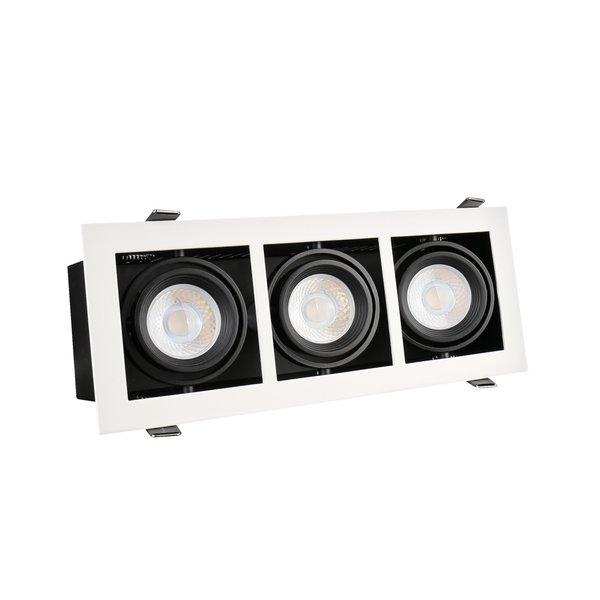 LED inbouwspot armatuur Modern - Rechthoekig met 3 GU10 aansluiting