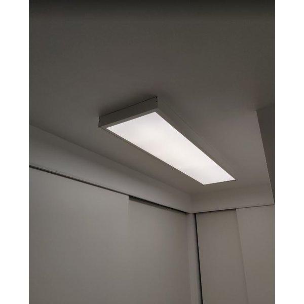 LED paneel opbouw Schroefloos - Wit aluminium - 120x30 frame systeem - 5cm hoog