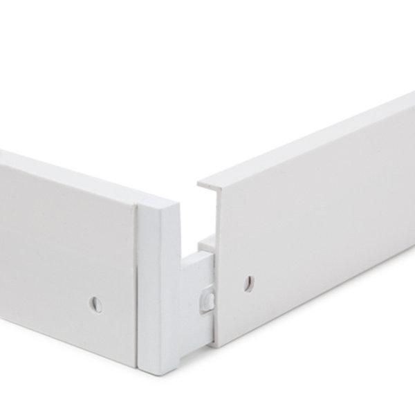 LED paneel opbouw - 120x30cm Framesysteem Type B schroefloos - Wit aluminium - 5cm hoog