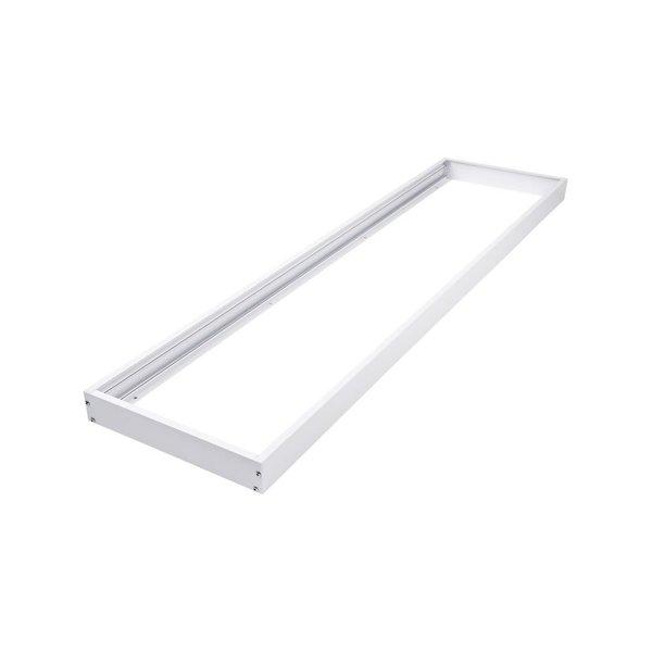 LED paneel opbouw - 120x30cm Framesysteem - Wit aluminium - 5cm hoog incl. schroeven