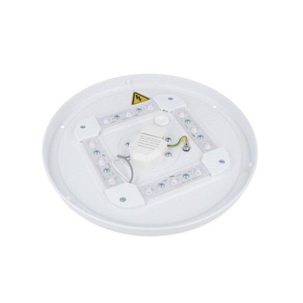 Actie! LED Plafonnière rond Wit - 12W vervangt 90W - Helder wit licht 4000K - 255x55mm