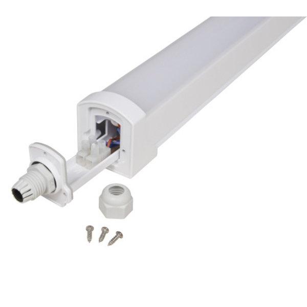 OP=OP LED ECO Armatuur 120cm - 36W 95lm p/w - 3000K 830 Lichtkleur - IP65 Spatwaterdicht