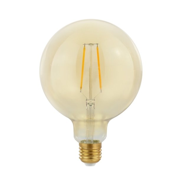 LED filament lamp - E27 fitting G125 - 2W vervangt 21W - 2500K extra warm wit licht
