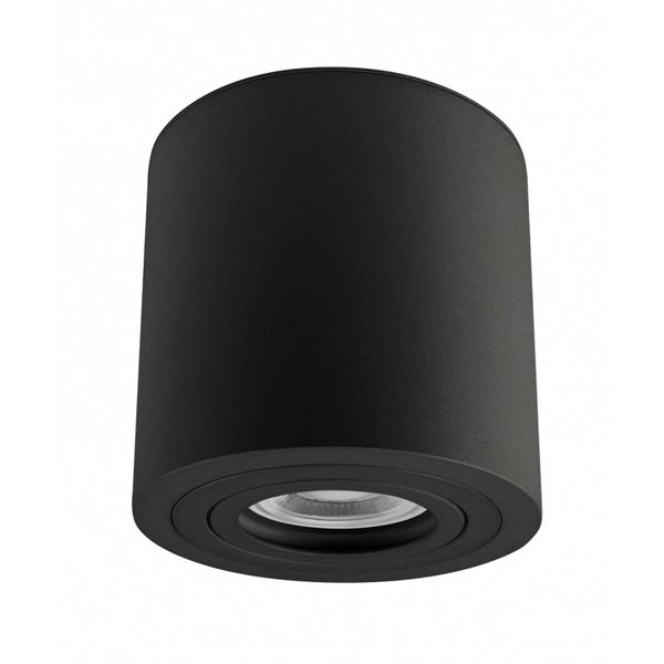 LED plafondspot IP65 - Tube rond Zwart - met GU10 fitting - excl. LED spot