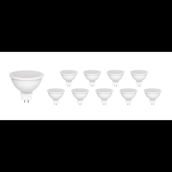 Voordeelpak 10 stuks - GU5.3 LED spots - 6W vervangt 30W - Lichtkleur optioneel
