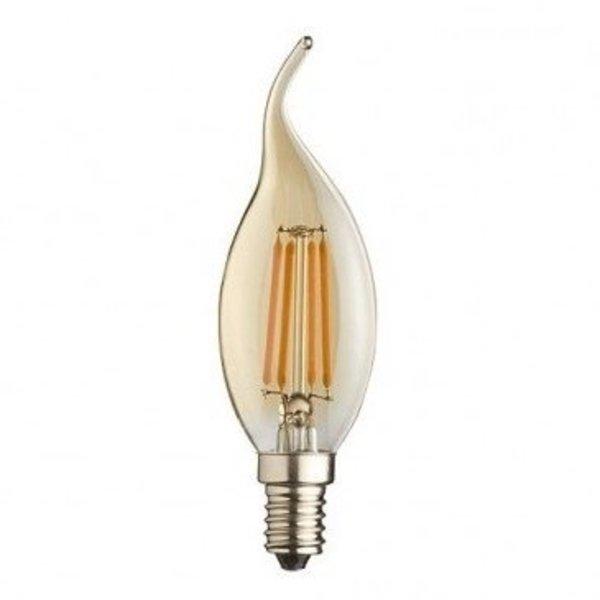 Voordeelpak 10 stuks -  E14 LED lamp - F35 - 5W vervangt 50W - Extra Warm Wit 2200K - Extra Warm Wit 2200K