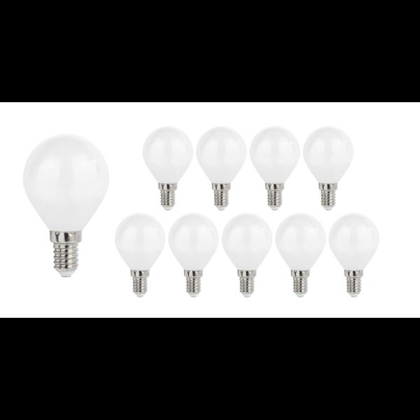 Voordeelpak 10 stuks - E14 LED lamp - 6W vervangt 50W - Lichtkleur optioneel
