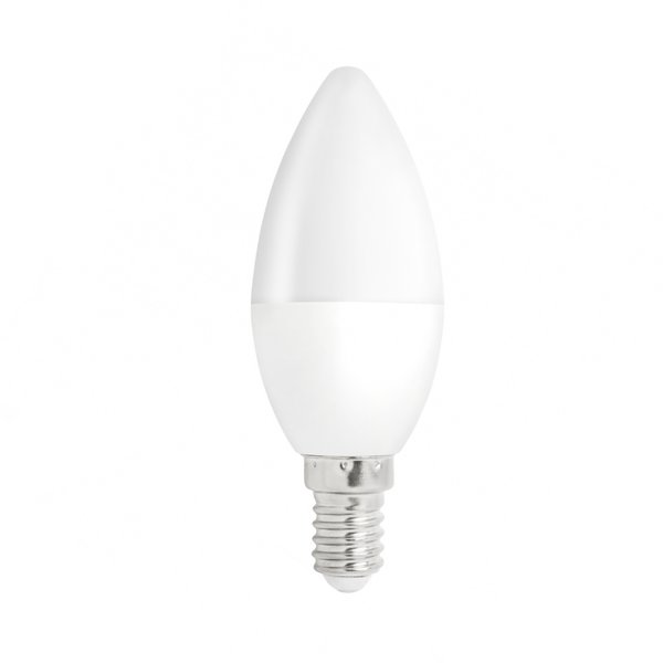 Voordeelpak 10 stuks - E14 LED kaarslamp - 6W vervangt 50W - Warm wit licht 3000K