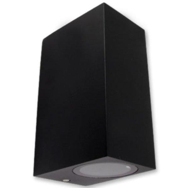 LED wandlamp Zwart - GU10 fitting - IP44 - Geschikt voor 2 GU10 spots