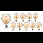 Voordeelpak 10 stuks - E27 LED lamp - XL GLOBE - dimbaar - 4W vervangt 40W - 2200K extra warm wit licht - dimbaar