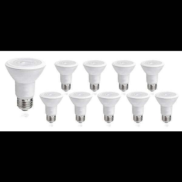 Voordeelpak 10 stuks - E27 LED lampen - Type PAR20 - 8W vervangt 60W - Lichtkleur optioneel