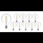 Voordeelpak 10 stuks - E27 LED lamp - XL GLOBE - dimbaar - 4W vervangt 40W - 2700K warm wit licht - dimbaar