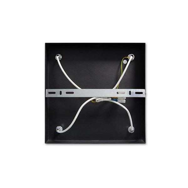 LED plafondspot mat zwart - 4 verstelbare spots - GU10 aansluiting