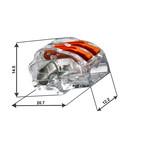 Conex lasklem 2-polig 0,5 tot 4mm² - voor flexibele en massieve draden -  Prijs per stuk